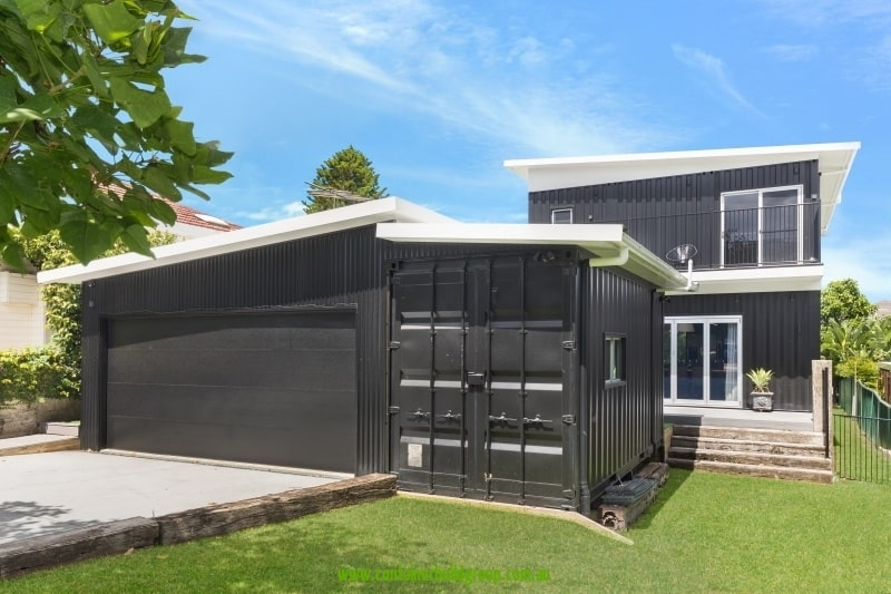 Cronulla Two storey container home front elevation