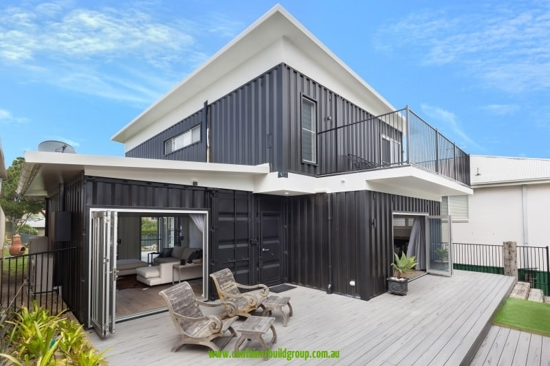 Cronulla - rear elevation showing deck and balcony