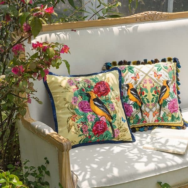 cushion cover on sofa