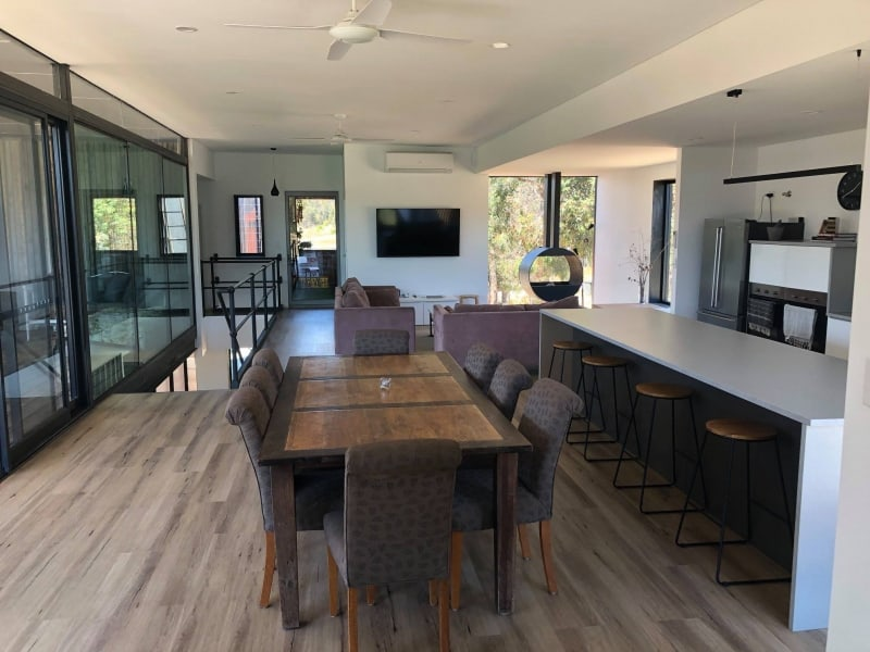 Kaloorup open-plan living room dining and kitchen area