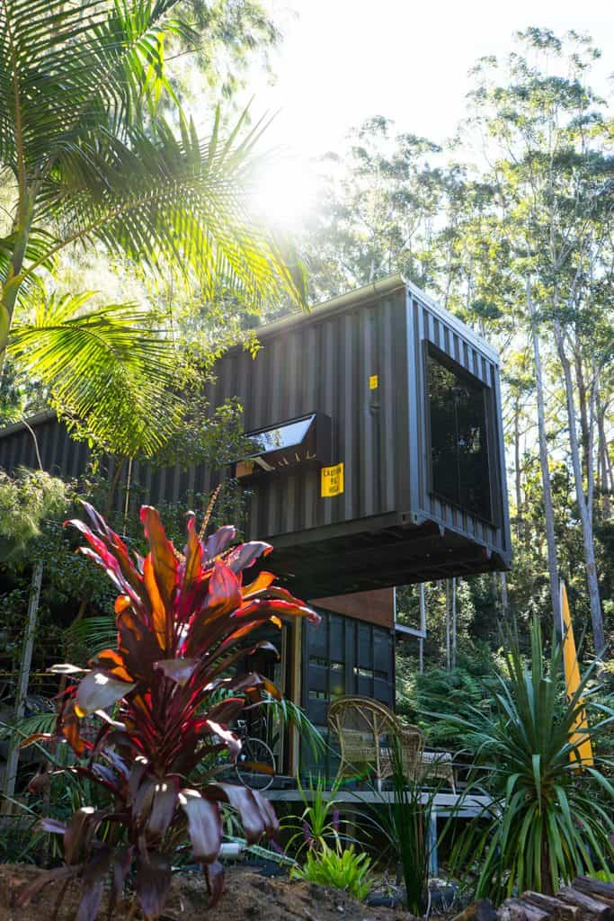 Off-grid Container Home cantilever elevation – Byron Bay NSW Australia