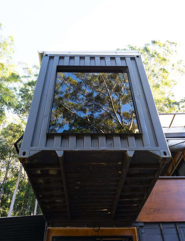 Off-grid Container Home box window – Byron Bay NSW Australia