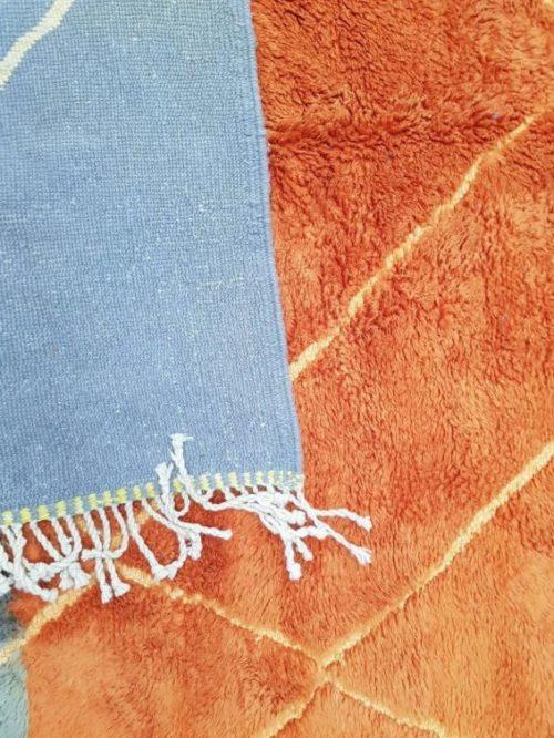 Adilah Purple Orange Rug showing reverse