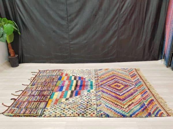 Amina Colourful Rug top view
