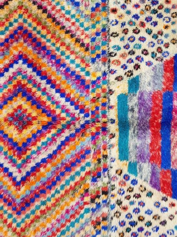 Amina Colourful Rug close up