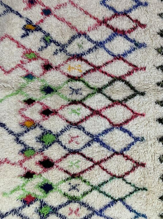 Amira Geometric Rug close up