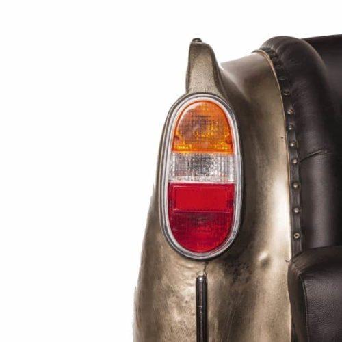 Antique Nickel Backseat Car Sofa close up detail of tail light