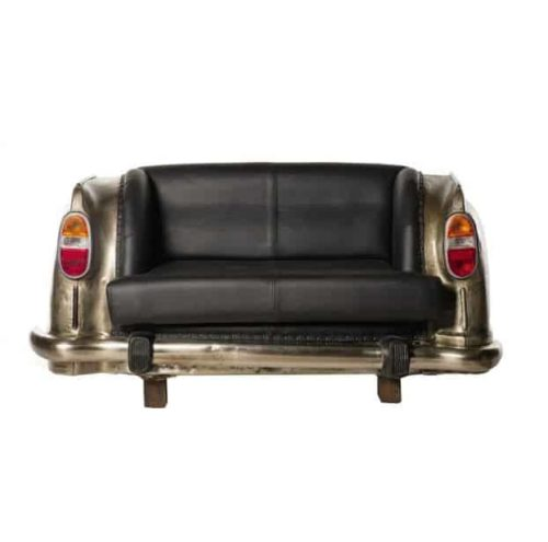 Antique Nickel Backseat Car Sofa front view