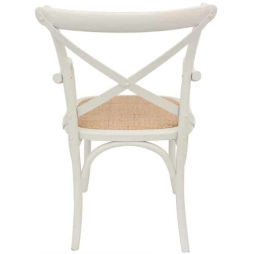 Bentwood Chairs White Carver rear view