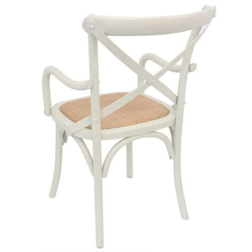 Bentwood Chairs White Carver side on rear view