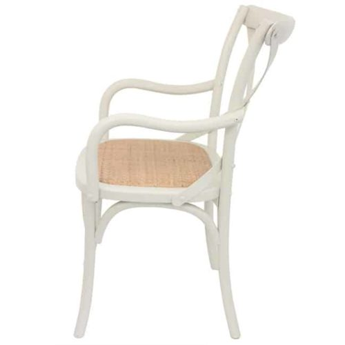 Bentwood Chairs White Carver side view