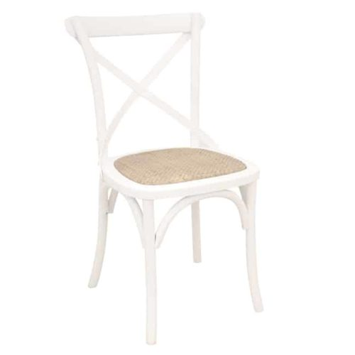 Bentwood Chairs White side on front view