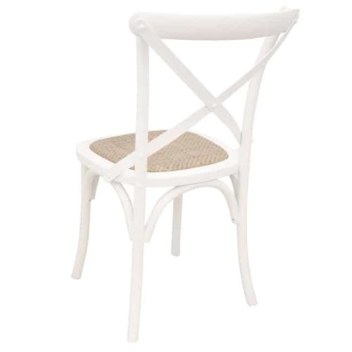 Bentwood Chairs White side on rear view