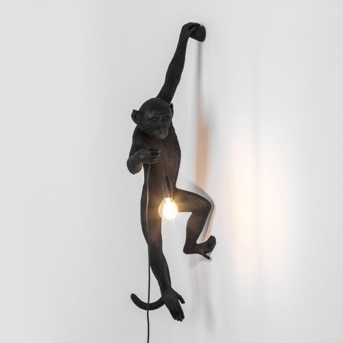 Monkey Lamps black left hand attached to wall