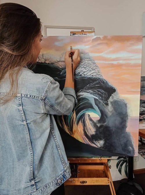 Mary Zammit Art painting Break of Dawn