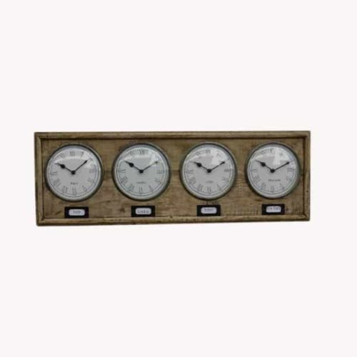 Vintage style world clock front