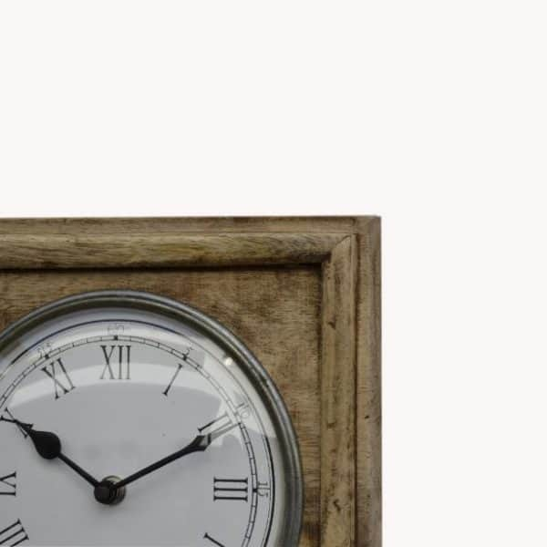 Vintage style world clock close up of dial