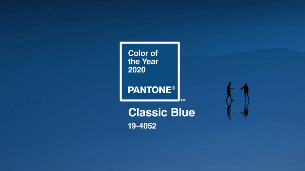 Colour chart image of Pantone's Color of the Year 2020 - Classic Blue