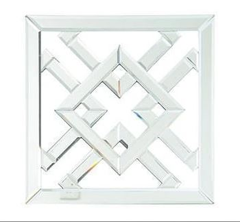 Diamond Mirrored Wall Art front view