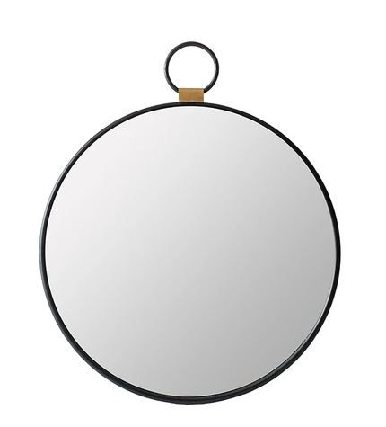 Round Pendant Wall Mirror front view