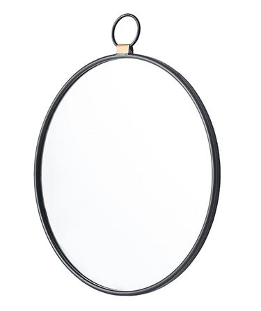 Round Pendant Wall Mirror side on