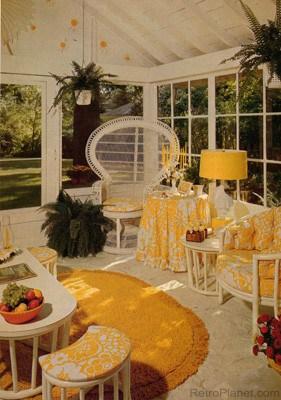 1970s rattan furniture set