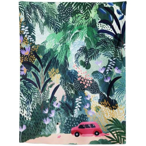 Exotic Tapestry car driving through jungle
