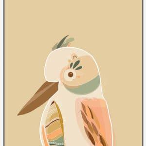 Booie and ben kookaburra framed artwork