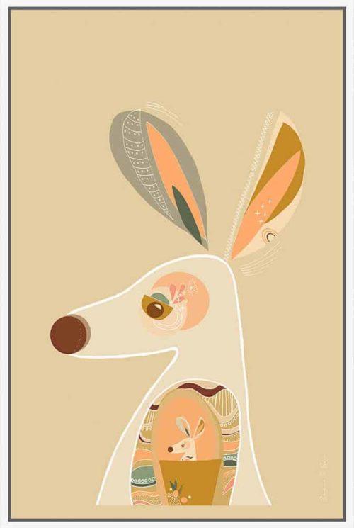 Booie and ben kangaroo framed artwork