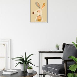Booie and ben kangaroo framed artwork on wall