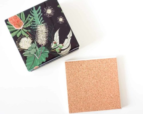 Coasters Australian Midnight Natives cork back
