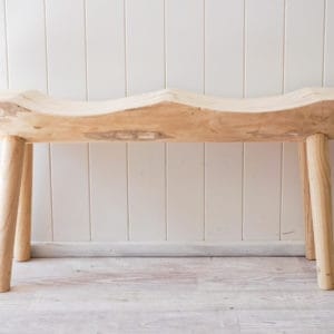Timber double bench seat front view