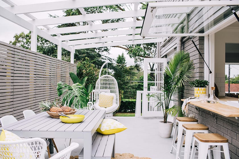 Inside outside trend making another usable room within your garden.