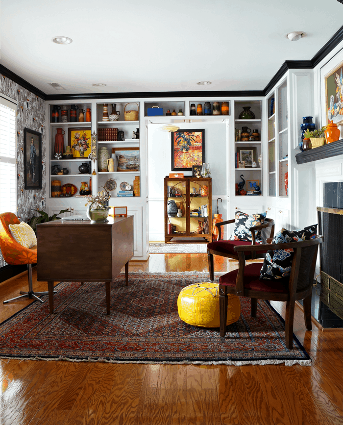 Maximalism 2021 trend featuring your favourite collected items curated together to give an eclectic feel.