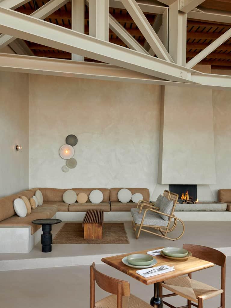 Natural materials feature in this Eco-conscious restaurant design