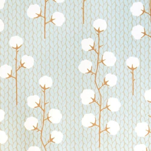 Sweet Cotton Blue wallpaper detail