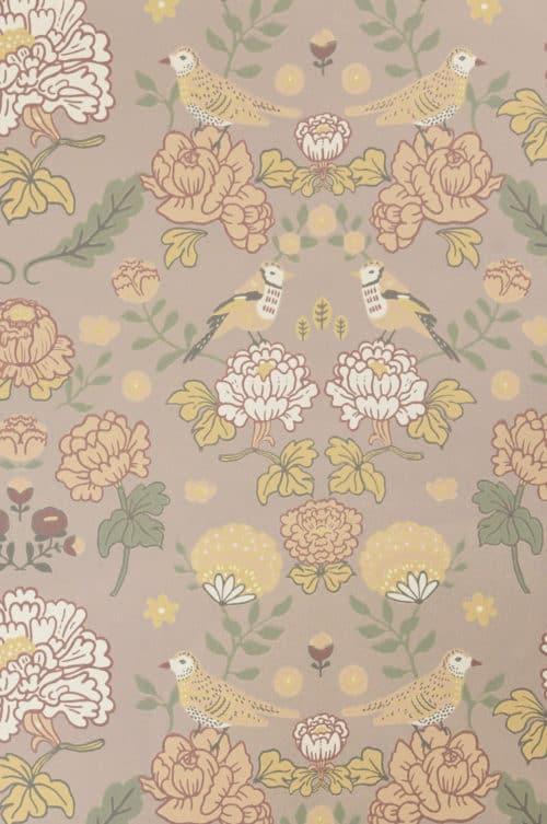 Sandy Lilac Majvillan wallpaper close up detail
