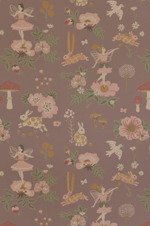Majvillan Old Garden wallpaper plum