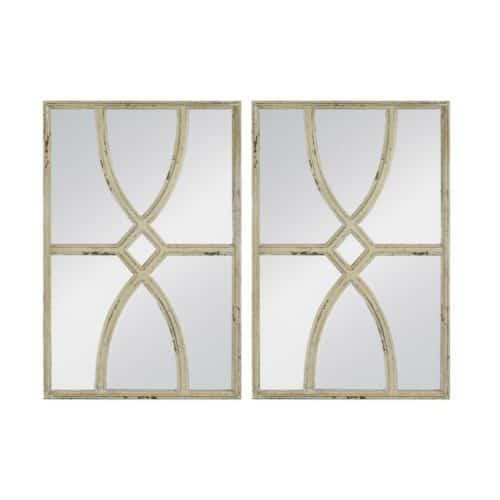 Vintage white Mirror Pair