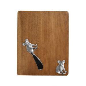 Acacia Cheeseboard with Koala spreader
