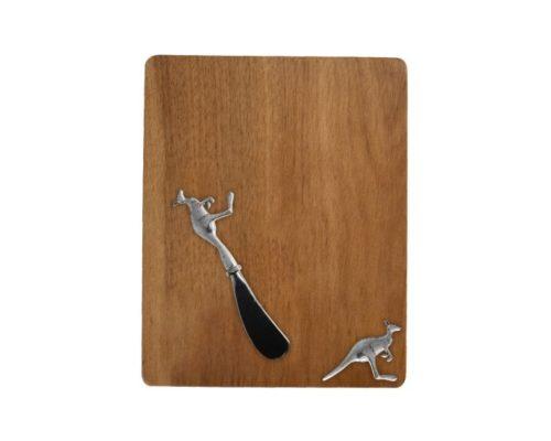 Acacia wood cheeseboard with kangaroo detail